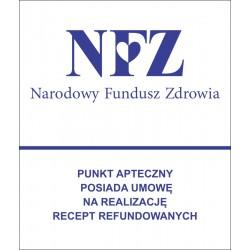 Tablica, naklejka NFZ dla aptek - niebieska
