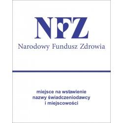Tablica, naklejka NFZ - niebieska