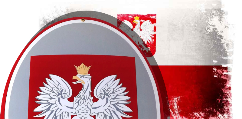 Godło Polski urzędowe wypukłe emaliowane